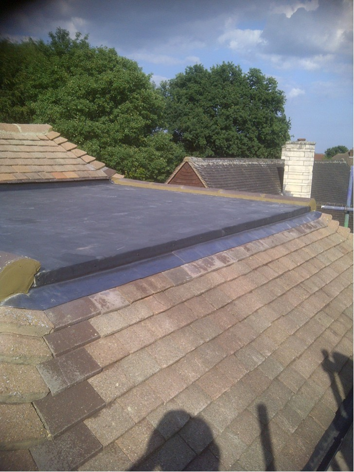 New Epdm Crown Flat Roof Installed
